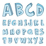Alphabet font - Vector illustration Royalty Free Stock Image