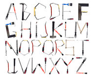 The Alphabet formed by tools Royalty Free Stock Image