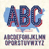 Alphabet For Fourth Of July. And Patriotic Celebrations. Vector, EPS10 Royalty Free Stock Photos