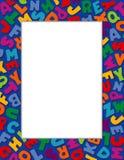 Alphabet Frame, Blue Background stock illustration
