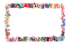 Alphabet frame Royalty Free Stock Photos