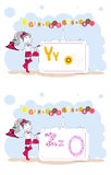 Alphabet francais. French alphabet, vector Y, Z Royalty Free Stock Photos