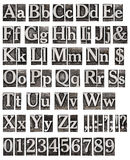 Alphabet From Metal Letters Royalty Free Stock Photo