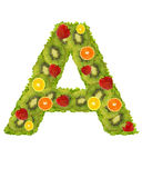 Alphabet from fruit - A Royalty Free Stock Photography