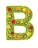 Alphabet from fruit - B Royalty Free Stock Images