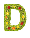 Alphabet from fruit - D Stock Image
