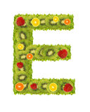 Alphabet from fruit - E Royalty Free Stock Photography