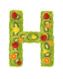 Alphabet from fruit - H Royalty Free Stock Photography