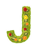 Alphabet from fruit - J Stock Photography