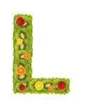 Alphabet from fruit - L Royalty Free Stock Photo