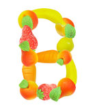 Alphabet from fruit, the letter B Royalty Free Stock Photography