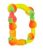 Alphabet from fruit, the letter D Stock Photography