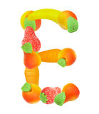Alphabet from fruit, the letter E Stock Photo