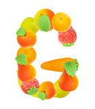 Alphabet from fruit, the letter G. Alphabet from fruit, the letter  G Royalty Free Stock Photography