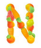 Alphabet from fruit, the letter N. Alphabet from fruit, the letter   N Stock Photography