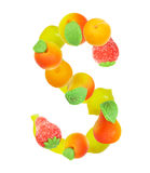 Alphabet from fruit, the letter S Royalty Free Stock Photography