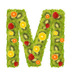 Alphabet from fruit - M Stock Photos