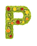 Alphabet from fruit - P Stock Photo