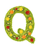 Alphabet from fruit - Q Stock Photo