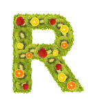 Alphabet from fruit - R Royalty Free Stock Images