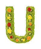 Alphabet from fruit - U Royalty Free Stock Image