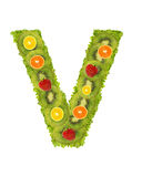 Alphabet from fruit - V Stock Photos