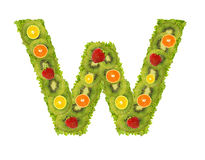 Alphabet from fruit - W Stock Images