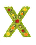 Alphabet from fruit - X Stock Images