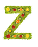 Alphabet from fruit - Z Stock Image