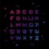 Alphabet géométrique linéaire de vecteur Photos stock