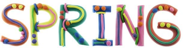 Alphabet gai réel de pâte à modeler Images libres de droits