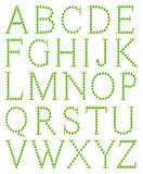 Alphabet gebildet vom Apfel Stockbilder
