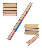 Alphabet gemacht aus Büchern heraus, Punkt und Komma und Hieb Stockbild