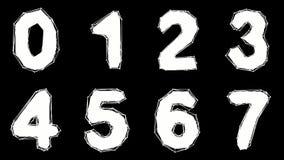 Alphabet gemacht von der niedrigen Polyart lokalisiert auf blauem Hintergrund stock abbildung