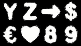 Alphabet gemacht von der niedrigen Polyart lokalisiert auf blauem Hintergrund vektor abbildung