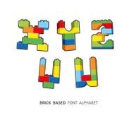 Alphabet geschaffen vom Spielen von Ziegelsteinen Lizenzfreie Stockfotografie