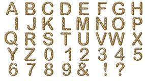 Alphabet Gingerbread Royalty Free Stock Photo