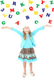 Alphabet Girl Stock Photo