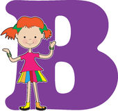 Alphabet Girl B Stock Photo