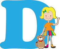 Alphabet Girl D Stock Photography