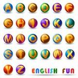 Alphabet on glossy ball Royalty Free Stock Image