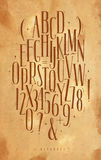 Alphabet gothic font craft Royalty Free Stock Photo