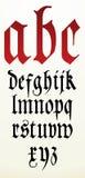 Alphabet gothique de police de vecteur Images libres de droits