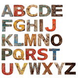 Alphabet graphics Royalty Free Stock Photos