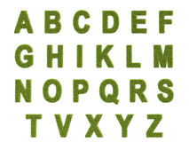 Alphabet of the grass Stock Photography
