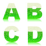 Alphabet green beer ABCD Royalty Free Stock Photography