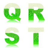 Alphabet green beer QRST Royalty Free Stock Image