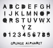 Alphabet grunge font Royalty Free Stock Photos