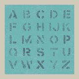 Alphabet. Grunge paper alphabet hand drawn Stock Image