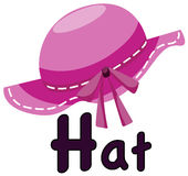 Alphabet  H for hat. Illustration of isolated  alphabet  H for hat on white background Royalty Free Stock Photo